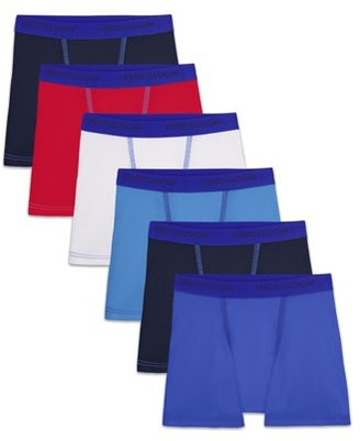 Fruit of the Loom Boys Underwear, 6 Pack Cotton Stretch Boxer Briefs (Toddler Boys)