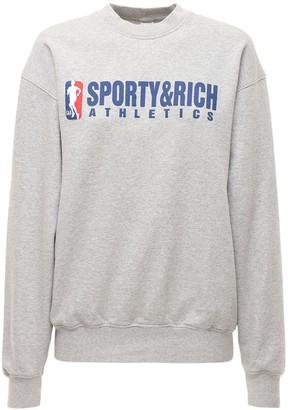 Sporty & Rich Team Logo Crewneck Sweatshirt