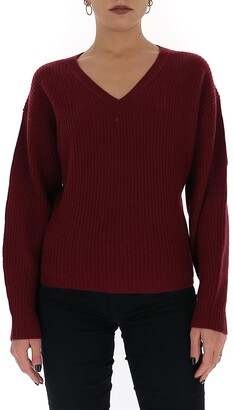 Theory V-Neck Knit Sweater