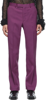 John Lawrence Sullivan Pink Wool Straight Trousers