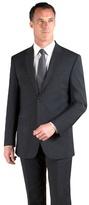 Jeff Banks Charcoal Plain Weave Travel Plus Regular Fit 2 Button Jacket