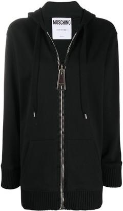 Moschino Macro Zip oversized hoodie