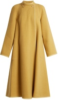 Chloé Flared-sleeve collarless wool-blend coat