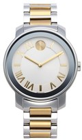 Movado 'Bold' Two-Tone Round Bracelet Watch, 39mm