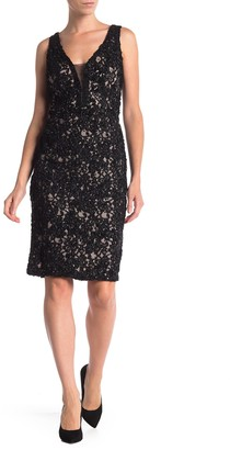 Marina Sequin Lace Sleeveless Sheath Dress