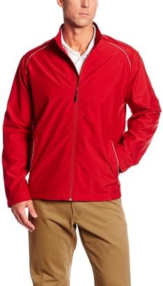 Cutter & Buck Men's Big-Tall Cb Weathertec Beacon Full Zip Jacket