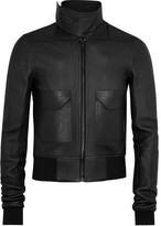 Rick Owens Black Leather Jacket