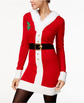 Hooked Up by IOT Juniors' Mrs. Claus Holiday Sweater Dress & Santa Hat