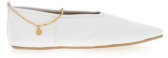 Stella McCartney Chain Ankle Strap Ballerina Flats