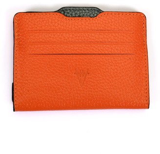 Hiva Atelier Double Card Holder Orange & Metallic Anthracite