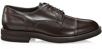 Brunello Cucinelli Cap-Toe Leather Derby Shoes
