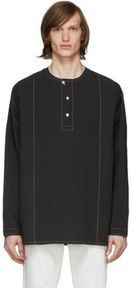 Lemaire Black Long Sleeve Henley