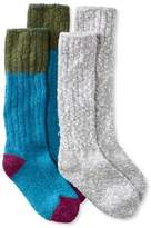 L.L. Bean L.L.Bean Cotton Ragg Camp Socks,Two-Pack