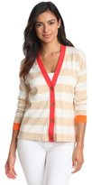 Vince Camuto Women's Button Front Stripe Cardigan