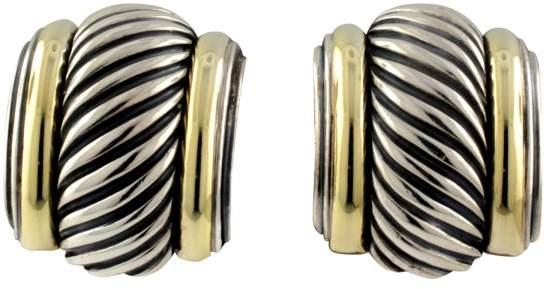 David Yurman 14K Yellow Gold & Sterling Silver Earrings