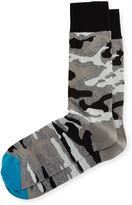 Neiman Marcus Camouflage Jaspe Socks