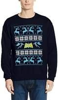 Batman Men's Reindeer Sweatshirt,XX-Large