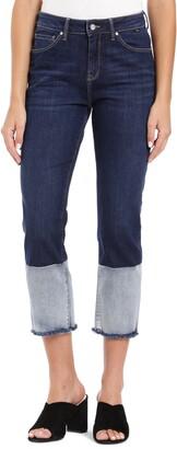 Mavi Jeans Niki Colorblock Fray Hem Crop Jeans