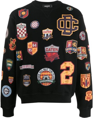 DSQUARED2 Varsity Logo-Print Crew-Neck Sweatshirt