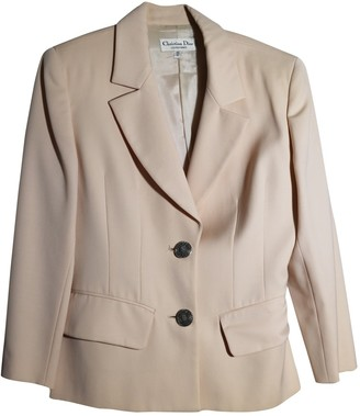 Christian Dior Pink Wool Jacket for Women Vintage