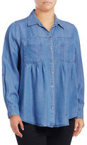 Style And Co. Plus Two-Pocket Denim Shirt