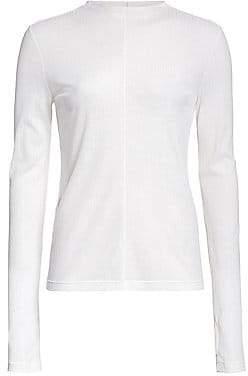 Helmut Lang Women's Semi Sheer Long Sleeve T-Shirt