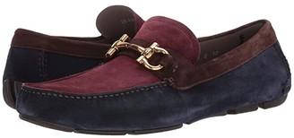 Salvatore Ferragamo Parigi 21 Driver (Blue/Oxblood/Africa) Men's Shoes