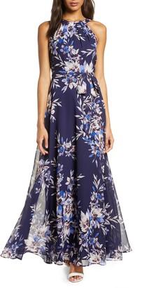 Brinker & Eliza Floral Halter Maxi Dress