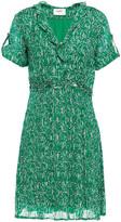 Thumbnail for your product : BA&SH Clem Ruffled Metallic Printed Georgette Mini Dress