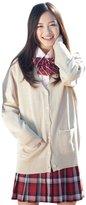 QIYUN.Z JK Uniforms Candy Cute Long Sleeve Cotton Knitting Cardigan School Tops Chandail