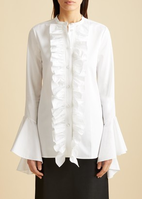 KHAITE The Keith Top in White