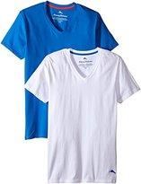 Tommy Bahama Men's 2 Pack Stretch Cotton Comfort Solid V-Neck T-Shirt