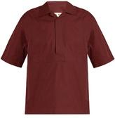 Marni Velcro-fastening Short-sleeved Cotton Shirt