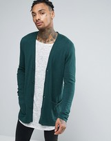 Asos Longline Cardigan in Cotton