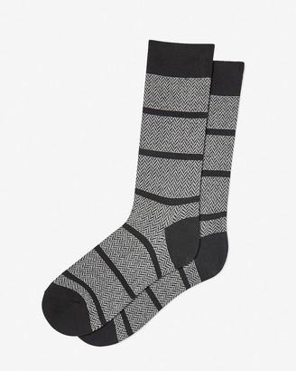 Express Herringbone Striped Dress Socks