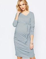 Mama Licious Mama.licious Mamalicious Stripe Long Sleeve Body-Conscious Dress
