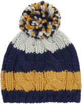 Monsoon Boy Toby Cable Stripe Beanie Hat
