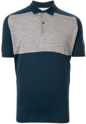 John Smedley two-tone polo shirt