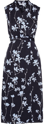 Equipment Femma Wrap-effect Floral-print Chiffon Midi Dress