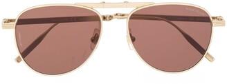 Montblanc Aviator Frame Tinted Sunglasses
