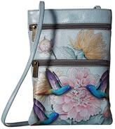 Anuschka Mini Double Zip Travel Crossbody 448 (Ocean Treasures) Cross Body Handbags