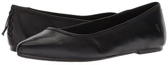 Frye Regina Ballet (Black) Women's Slip on Shoes