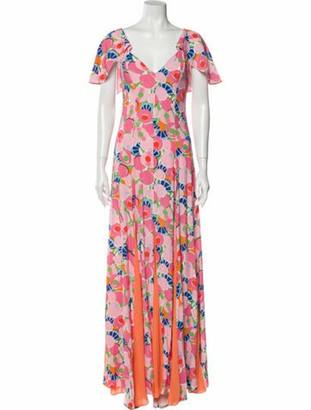 STAUD Baya Long Dress w/ Tags Pink