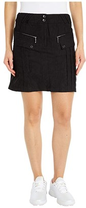 Jamie Sadock Micro Crunch Textured Skirt with Shortie Separate (Jet Black) Women's Skirt