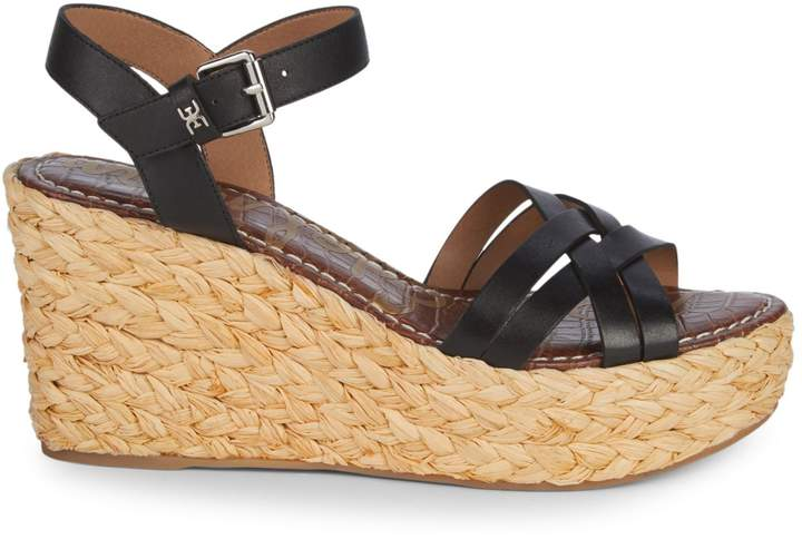 240d2780834 Darline Leather Espadrille Wedge Sandals