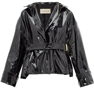Alexandre Vauthier Patent-leather Belted Jacket - Black
