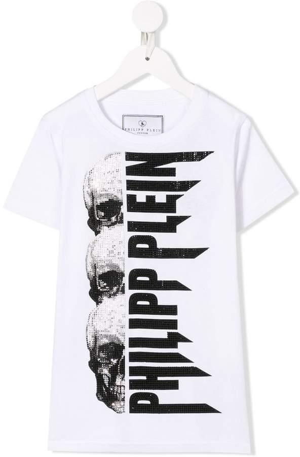 267e972c57c Philipp Plein White Boys' Tops - ShopStyle