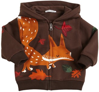 Dolce & Gabbana Fox Print Cotton Sweatshirt Hoodie