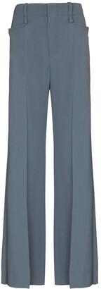 Chloé Wide-Leg Virgin Wool Trousers
