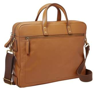 Fossil Haskell Double Zip Workbag Bag Tan